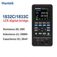Hantek-medidor Digital LCR de mano, hantek 1832C /1833C, portátil, Puente Digital, inductancia LCR, probador de resistencia de capacitancia