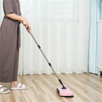 2 w 1 przenośny mop rąk naciśnij leniwy miotły gospodarstwa domowego ręcznie zamiatarka tanie i dobre opinie 120cm Z tworzywa sztucznego STAINLESS STEEL 30*20*7cm