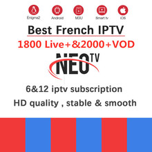 Most Hot Selling IPTV Subscription for Arabic French Europe Belgium NEOTV One Year NEOTV PRO for M3U Smart tv Android TV Box(China)