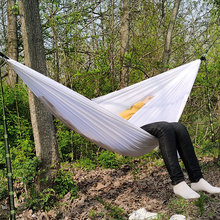 Blue White Pink Swing Outdoor Parachute Hammock Swing Bed Rede Camping
