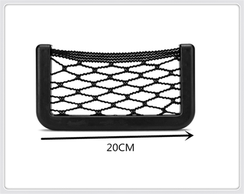 Universal Car Accessories Seat Cell Phone Debris Storage Mesh Bag for BMW M240i M140i 530i 128i i8 Z4 X5 X4 X2 X3 3-series image