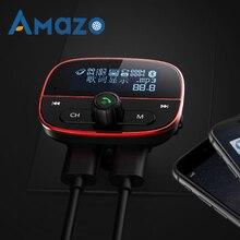 1.8 inch Scherm Bluetooth Fm-zender Auto MP3 Speler AUX Spelen Voltage Beschermen Transmiter Dual Usb-poorten Car Charger Handsfree