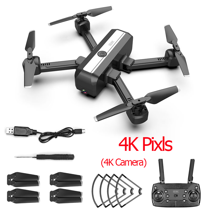 H20 4K Дрон двойная камера Дрон Профессиональный Квадрокоптер стабильная высота вертолет Дрон камера VS SG706 F11 KF607 XS816 GD89 - Цвет: 4K Camera
