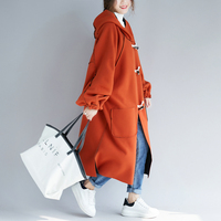 Maternity Winter Coat Keep Warm Long Loose Hooded Plush Coat for Pregnant Women Pregnancy Coats Outerwear Jackets