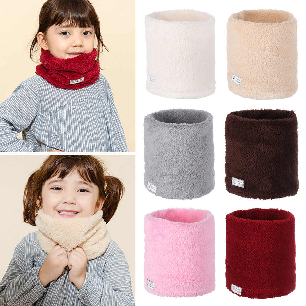 mundo constructor Concesión  Bufanda de invierno para niño y niña, bufanda cálida de invierno para  niños, bufandas de cuello de lana gruesa a prueba de viento, más calentador  de terciopelo para el cuello, 2020| | - AliExpress