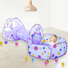 3 In 1 Portable Baby Playpen for Children Indoor Kids Ocean Balls Pool Foldable Play Tent Fence Tunnel Play House Baby Play Yard