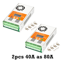 MakeSkyBlue MPPT الشمسية جهاز التحكم في الشحن 80A (2 قطعة 40A بالتوازي) ل 12 فولت 24 فولت 36 فولت 48VDC هلام AGM مختومة الرصاص الحمضية بطارية V118