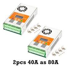 Makeskyblue mppt controlador de carga solar 80a (2 pces 40a em paralelo) para 12 v 24 v 36 v 48vdc gel agm selado chumbo ácido bateria v118