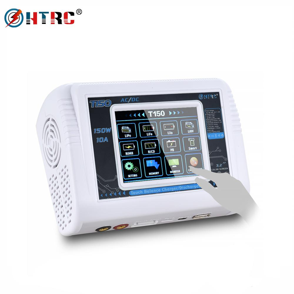 HTRC T150 RC Charger AC/DC 150W 10A Touch Screen Drone Balance Discharger For LiPo LiHV LiFe Lilon NiCd NiMh Pb Battery