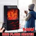 Мини-Электрический настенный нагреватель пламени  штепсельная вилка европейского стандарта  подогреватель воздуха  PTC керамическая нагрев...