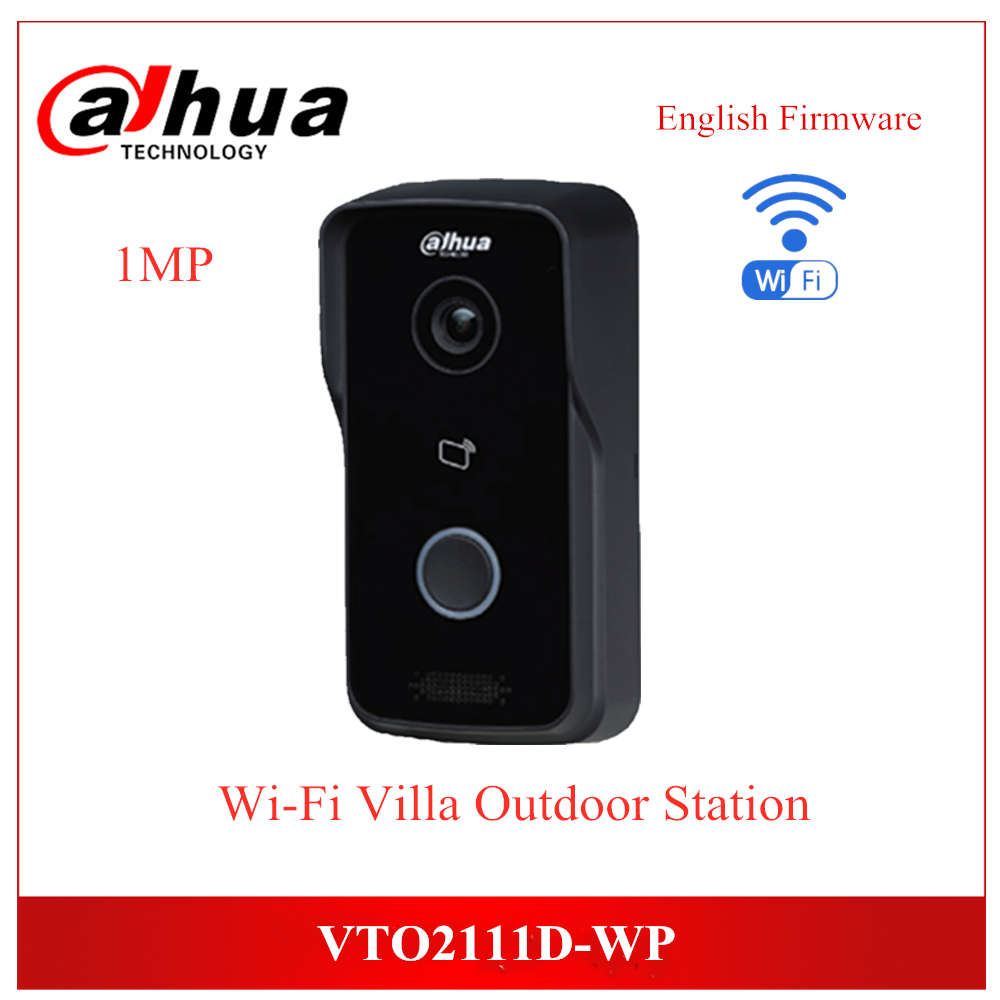 Dahua VTO2111D-WP English Version 1MP Wi-Fi Villa Video Intercom Support Night Vision And Voice Indication APP Remote Doorbell