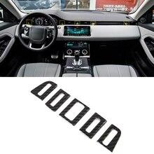 Для Land Rover Evoque карбоновый стиль средняя консоль A/C вентиляционное отверстие крышка отделка автомобиля Стайлинг
