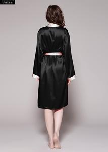 Image 3 - LilySilk Robe Kimono kıyafeti sabahlık kadın saf ipek 100 kadın 22 momme kontrast ücretsiz kargo tasfiye satışı