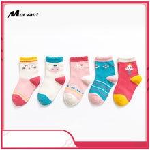 5 цветов Детские Зимние хлопковые носки для малышей милые Мультяшные