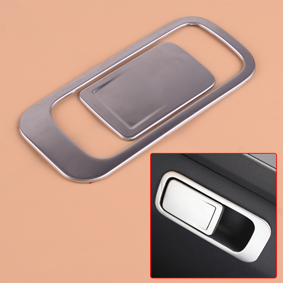 CITALL Chrome CCar Auto Glove Box Handle Cover Trim Sticker Stainless fit for VW <font><b>Tiguan</b></font> MK2 20162017 2018 <font><b>2019</b></font> image