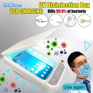 Image 1 - 紫外線消毒ボックス消毒充電器防止インフルエンザ iphone/サムスンの携帯電話のヘッドフォンマスク殺菌キル 99.9% ウイルス