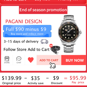 2021 New PAGANI DESIGN Men's Mechanical Wristwatches Luxury Automatic Watch For Men Luminous Diving Steel Watch Japan NH35 Clock 2
