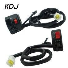 """Interruptor de señal de giro para motocicleta, Luz antiniebla eléctrica, interruptor de encendido y apagado del manillar de botón, de 7/8 """"y 22mm"""