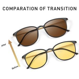 Image 3 - Очки солнцезащитные CAPONI BSYS520 мужские фотохромные, винтажные Поляризационные солнечные очки с дужками из β титана, с ночным видением