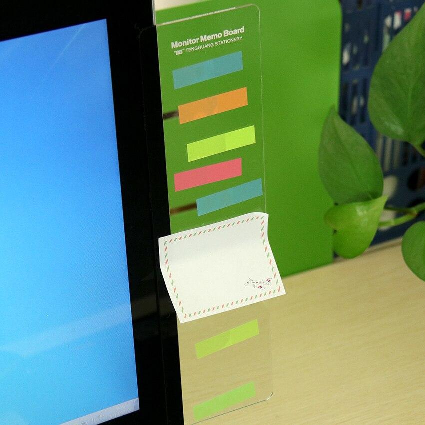 1PC Plastic Monitor Message Memo Board For Sticky Notes Tabs Phones Computer PC Bordes Bord Notice Board Plastic Monitor
