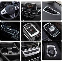 Автомобильный Стайлинг интерьерные кнопки панель рамка Декоративные Чехлы наклейки отделка для BMW 2 серии Gran Tourer F45 F46 автомобильные аксессу...