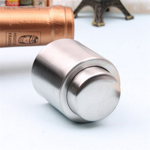 Reusable creative wine champagne cork stainless steel silicone T-shaped red stopper tool press the seal