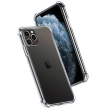 Shockproof Silicone Phone Case For iPhone 11 Pro Max 7 8 6 s Plus X XS MAX XR Transparent Case For iphone 11 Pro Max Clear Cover(China)