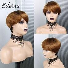 Short Pixie Cut Straight Hair Wig Peruvian Human Hair Wigs For Black Women Glueless Machine Made Wig Free Shipping
