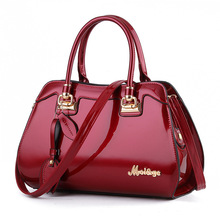 Black Red Luxury Patent Leather Tote Handbags Women