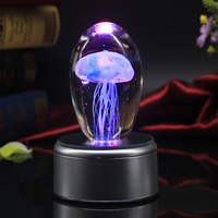Creative birthday gifts for girlfriend romatic Jellyfish gadgets cool electronic gadgets gifts crystal music box USB Light
