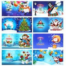 5D DIY Diamond Painting Greeting Card Special-shaped Birthday Festival Card Santa Claus Xmas Postcards Craft Gift s Christmas