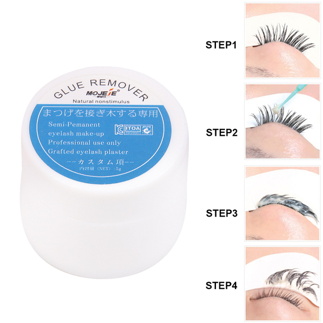 Grafting Eyelash Extension Makeup Remover Glue 5g Non-irritating Plant Adhesive Gel Remover Eye Lashes Make Up Remover Cream 2