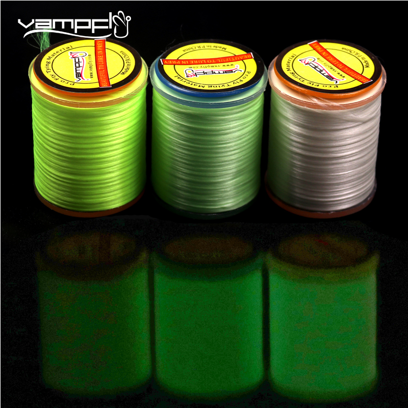 Vampfly Luminous Fly Tying Thread Floss for Jigging Hook, Ribbing , Glow in the dark tying material <font><b>300D</b></font> 150D image
