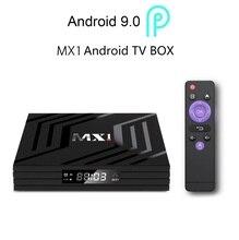 スマートアンドロイド 9.0 セットトップ tv ボックス 4 56k の usb 2.0 MX1 グーグルプレイ iptv netflix hd 4 18k