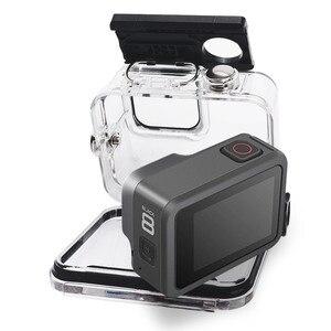 Image 4 - 45m Subacquea Custodia Impermeabile Per Gopro hero 8 Action Camera Go Pro 8 Nero accessori di Protezione di Caso di Accessori