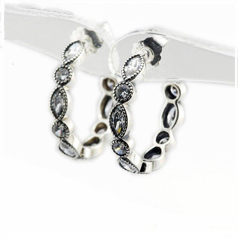 Sedutor brincos de argola brilhante para as mulheres moda clara cz cristal brincos de casamento feminino 925 brincos de prata esterlina jóias