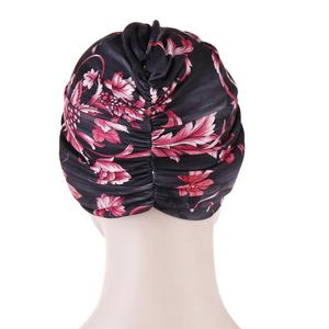 Image 3 - Muslim Women Twist Knot Chemo Cap Cancer Hat Turban Hat Bonnet Head Scarf Wrap Indian Hat Beanies Skullies 2019 Arab Islamic Cap