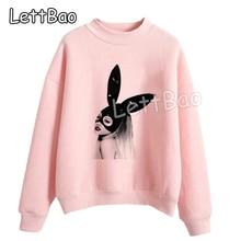 New Kpop Clothes Pink Hoodies Harajuku Shirt Comfortable Ariana Grande