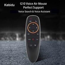 Kebidu 2.4G ricevitore USB G10s per Gyro Sensing Mini Wireless Smart Remote G10 Air Mouse Voice Control per Android TV BOX
