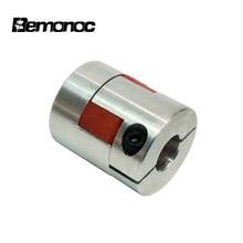 Bemonoc CNC Plum-style Jaw Shaft Coupling D25 L30 Flexible Coupler Bore 5-10mm Flexible Coupling Shaft Coupler Motor Connector
