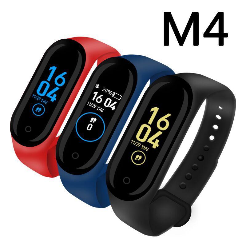 Nova M4 Mulheres Esporte Smartwatch À Prova D' Água de Pressão Arterial Monitor de Freqüência Cardíaca Relógio Inteligente Homens de Fitness Rastreador Relógio PK Mi Banda 4