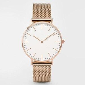 Image 4 - Top Brand Women Watches 38mm Fashion Ultra thin Stainless Steel Ladies Dress Watch Montre Femme Zegarki Damskie Reloj Mujer Gift