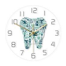 Wall-Clock Department-Decor Dental-Care Dentist Silent Acrylic Teeth-Design Symbols