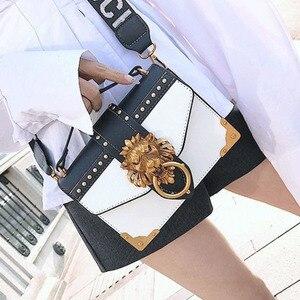 Image 4 - 2019 女性のためのライオンメタル & レザーハンドバッグ高級女性のバッグデザイナーの有名なブランドの女性のショルダーバッグ嚢メイン
