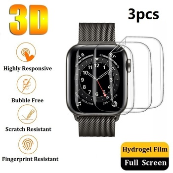 Protective Film for Apple Watch SE Series 6 5 4 44mm 40mm Screen Protector (Not Glass)for Apple Watch 3 2 1 42mm 38mm Film Foil 10pcs lot oca optical clear adhesive film sticker glue for apple watch 38mm 40mm 42mm 44mm series 1 2 3 4