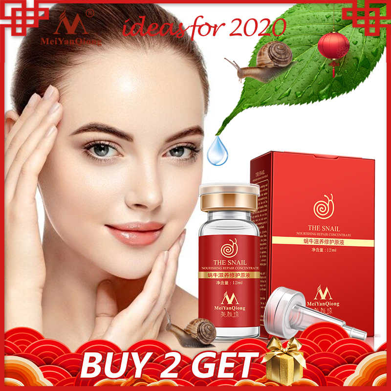 คุณภาพสูง snail100 % Essence Hyaluronic Acid Liquid Whitening Spot Essence รูขุมขน Ampoule Anti-Acne regenerative Essence