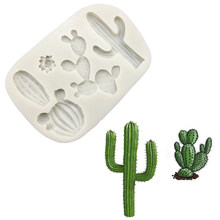 Cactus Silicone Mold Sugarcraft Chocolate Cupcake Baking Mold Fondant Cake Decorating Tools M2636