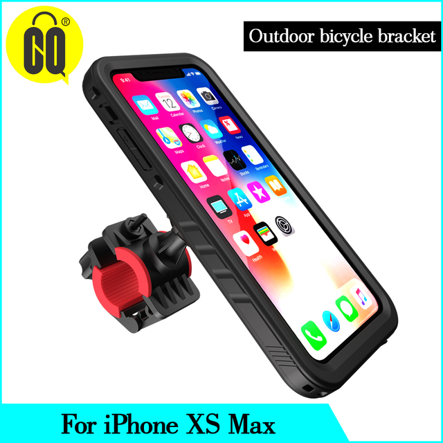 New For iPhone XS Max Bicycle Mount Shockproof Case bag, for Bike phone holder Motorcycle Rack GPS moto support Handlebar stand