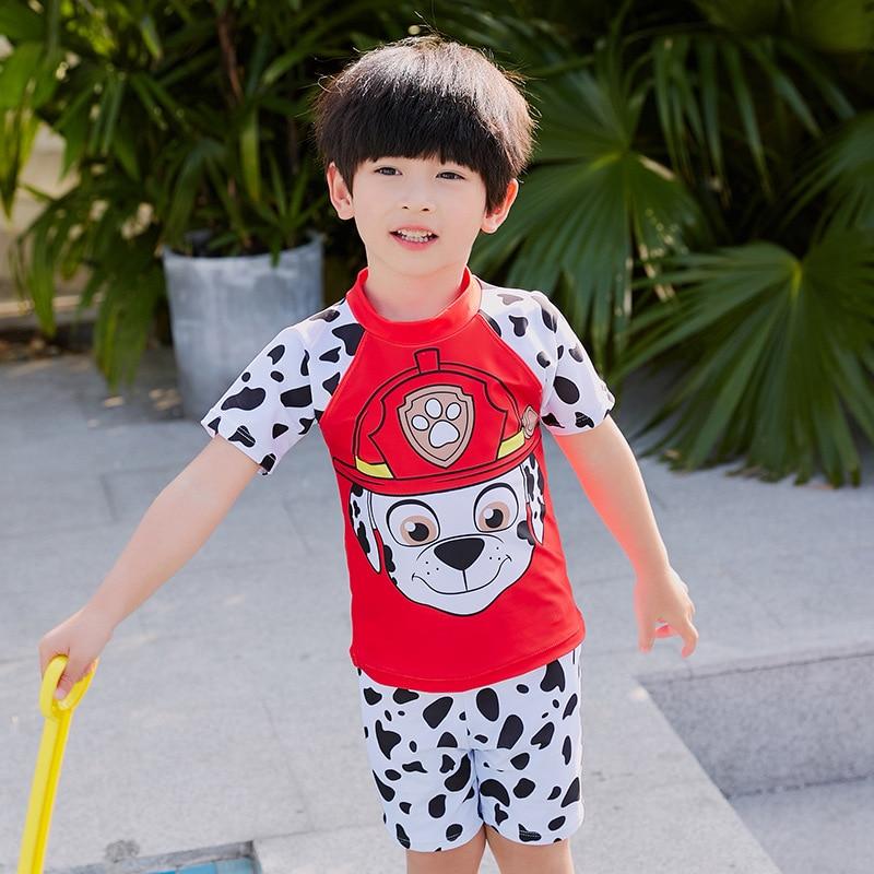 New Style CHILDREN'S Cartoon Want Team Onesie-Split Type Pants-BOY'S Small CHILDREN'S Split Type Swimsuit