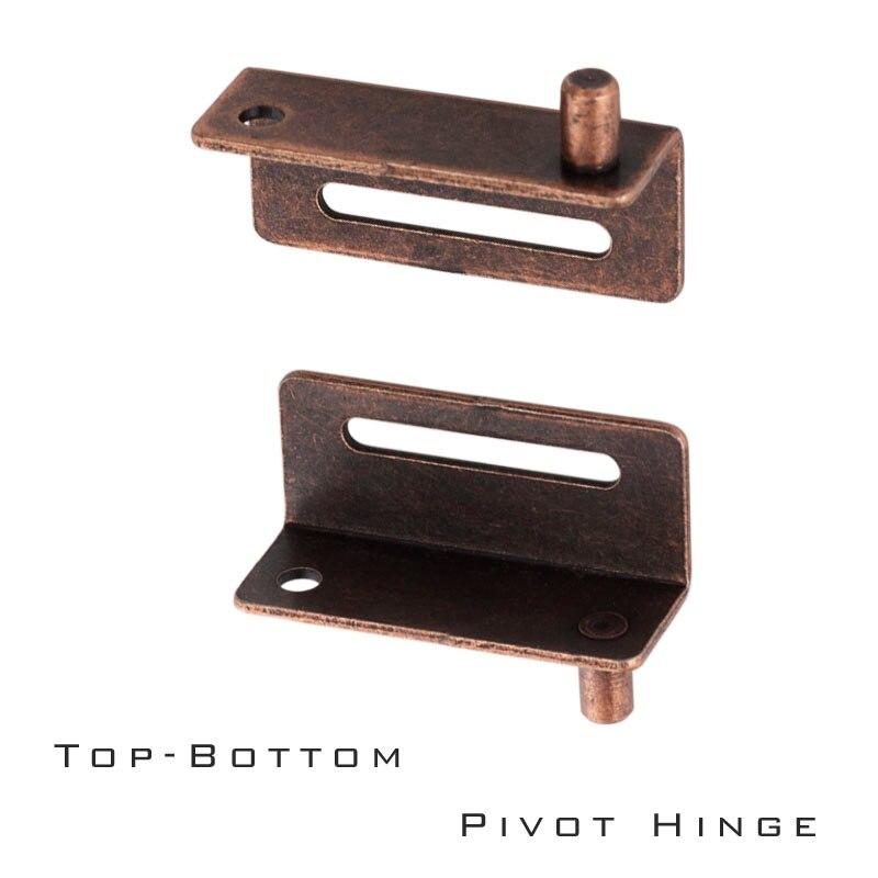 Antique Copper color Solid Iron material Wood door pivot hinge